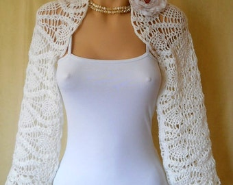 LIQUIDATION Stock 30% OFF Bridal Shrug Bolero Wedding Bridesmaid Accessories Hand Knitted Crochet Elegant Jacket Cardigan Women Capelet