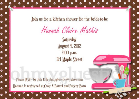 Items similar to bridal shower kitchen party printable invitation by items similar to bridal shower kitchen party printable invitation by oh my gluestick on etsy stopboris Image collections