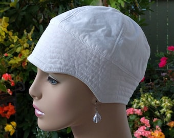 Cancer Hat Handmade in the USA Soft Womens Chemo Hat. Includes Hat Ties.   MEDIUM