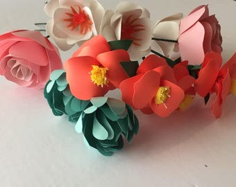 paper flower bouquet, wedding flowers, mothers day gift, paper flowers, anniversary gift