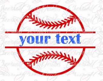 Baseball Svg file Baseball cut file Baseball Monogram SVG Baseball split Monogram SVG Silhouette Cameo Cricut Cut Files Scrapbook Clipart