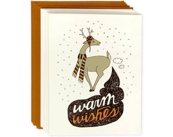 Funny Holiday Card Set of 8 - Warm Wishes