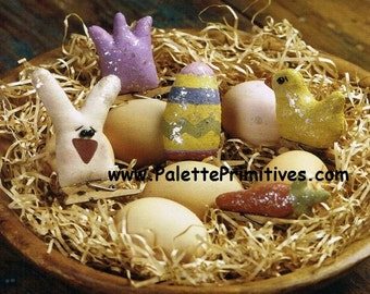 Easter Clothespin Ornies - Instant Download E-pattern