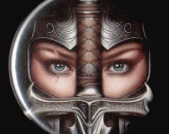 Warrior Queen Button