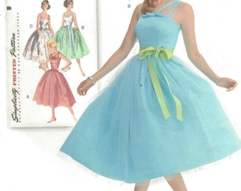 Womens Retro Rockabilly Dress Prom or Bridesmaid Dress Simplicity Sewing Pattern 1194 Size 6 8 10 12 14 Bust Bust 30 1/2 to 36 FF