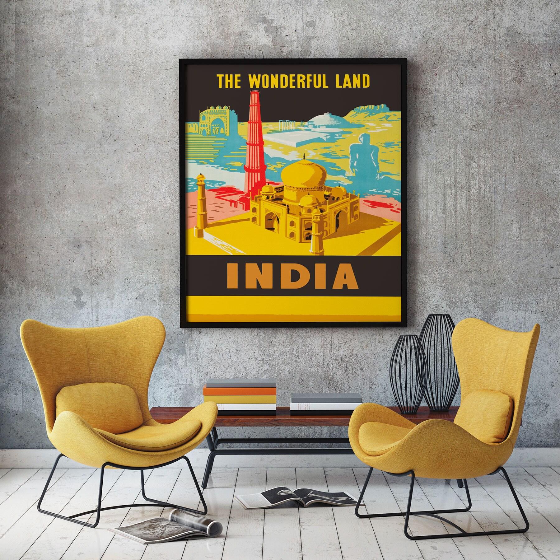 India Travel Poster Indian Art Indian Poster Indian Wall Art Indian ...