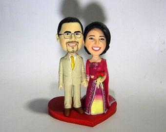 Custom Cake Topper- Indian traditional Wedding Theme
