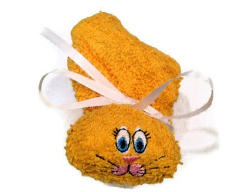 Bunny Ice Pack Embroidered Rabbit Yellow or Goldenrod for Baby Shower Basket Boo-boo Bunny