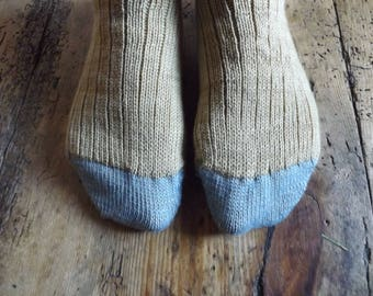 Men's Handmade Wool Socks - Bracken Brown