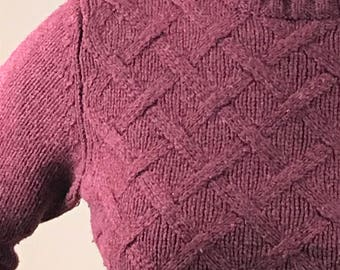 Maroon wool knit sweater