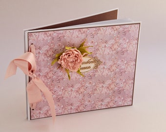 """Wedding wish/guest book  """"Shabby Roses"""""""