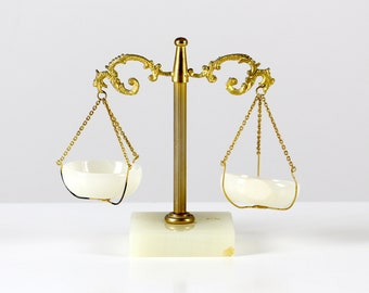 Brass balance scales, onyx balance scales, decor balance scales, marble precision scales