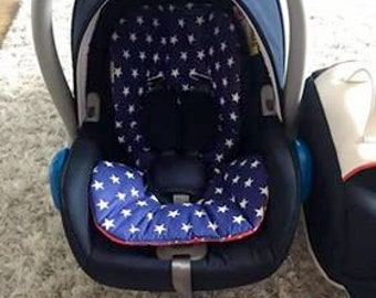 Baby capsule liner, reversible liner, Capsule pad - Choose your fabric!
