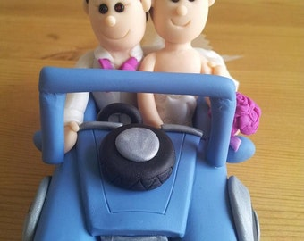 Land Rover Defender 4x4 Car Jeep Bride and Groom Wedding Cake Topper