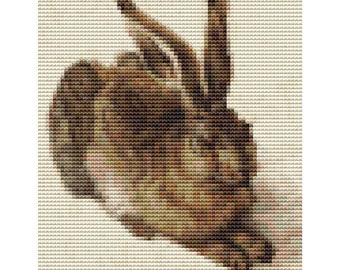 Rabbit MINI Cross Stitch Kit, The Young Hare by Albrecht Durer, Counted Cross Stitch, Embroidery Kit, Art Cross Stitch