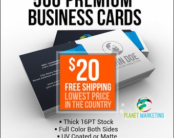500  16PT Business Cards 20 Bucks + FREE Shipping - Full Color Front/Back