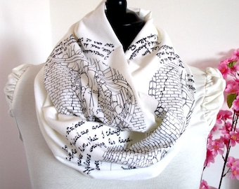 EDGAR ALLAN POE Literary Scarf Book Scarf - The Cask of Amontillado - Quote Scarf Literary Gift for Book Lovers Bookish Scarf Christmas Gift