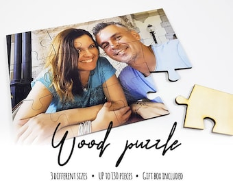Personalized Wooden Puzzle from your Photo, Wedding Gift, Gift for Birthday, Custom Jigsaw Puzzle, Personalized Puzzle, Photo Puzzle