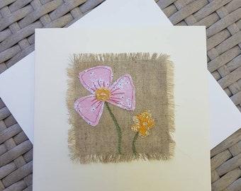 Handmade textile card