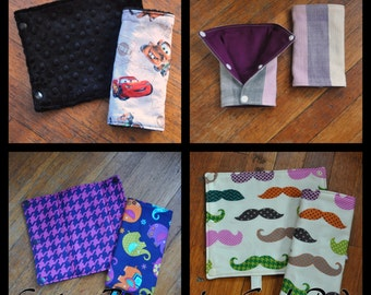 Custom Drool Pads or Suck Pads for your baby carrier - Mei Tai, Soft Structured, Ergo, Tula. Free shipping.