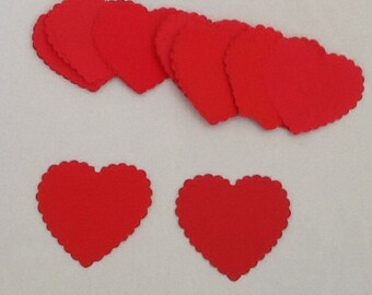 Red Hearts, Place cards, Gift Tags, Favor Tags, Decoration, Wedding, Party, Bridal Shower, Baby Shower, Wedding DIY
