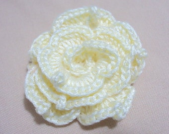 Hand crocheted Flower Tutorial, PDF Crocheted Flowers Pattern, DIY Flower Ornament