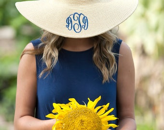 Natural personalized floppy hat