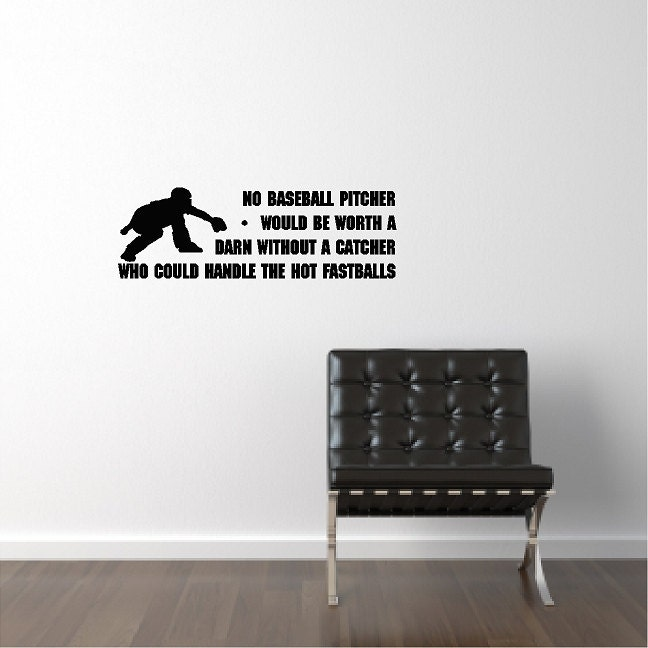 Baseball Catcher Wall Decal Removable Art