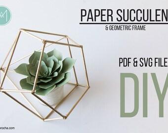 DIY Paper Succulent PDF & SVG files
