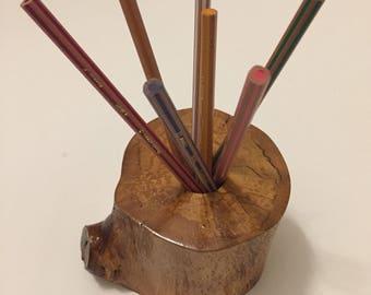 wood pen holder