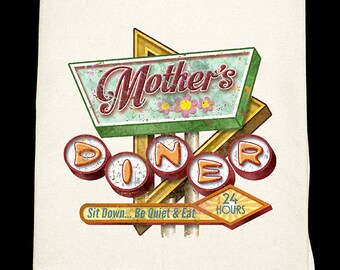 Mothers Diner Flour Sack Towel