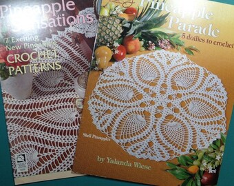 2 Pineapple Crochet Books,Pineapple Sensations,Pineapple Parade,Set of 2 - FREE SHIPPING