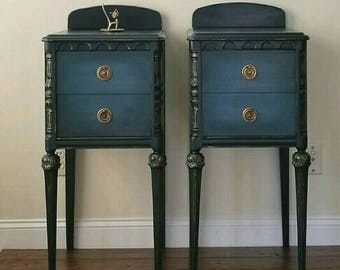 SOLD-- Custom finish available Vintage Nightstands
