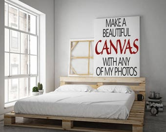 Canvas Art Print, choose any print in my shop and print it on canvas