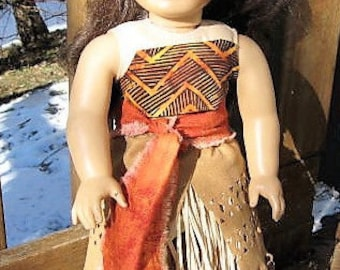 "Moana Costume for American Girl & Other 18"" Dolls"