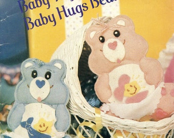 Butterick 998 Baby Tugs and Baby Hugs Bears Ornaments Pattern CARE BEARS
