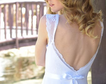 Ava  - Boho wedding dress, backless  wedding dress, beach wedding dress