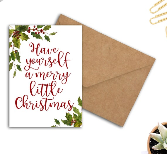 Printable christmas card have yourself a merry little solutioingenieria Gallery