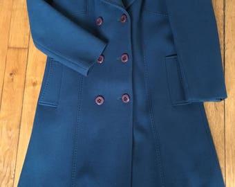 Vintage Peacock blue coat - Size M