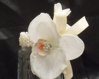 Prom and Bridal Wrist Corsages. Ivory Floral Wrist Corsage. Corsage. Prom. Bridal