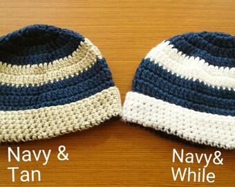 Crochet Baby Beanies 6-9 Months