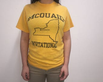 80s Mquaid Invitational Rochester New York Ultra Soft Thin T Shirt Made In U.S.A. Size Medium