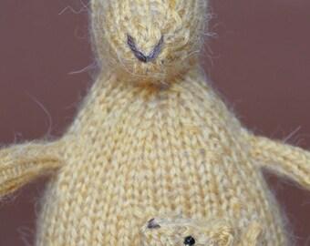 Knitted Kangaroo and Joey!