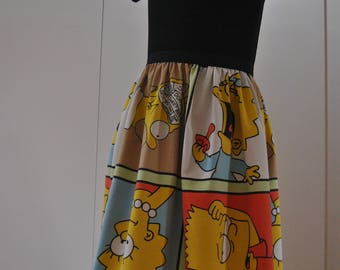 The Simpsons Handmade A-line Skirt Size 40/42
