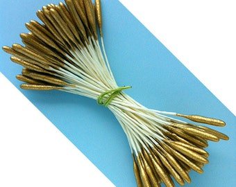 Long Gold Cattail Flower Stamens