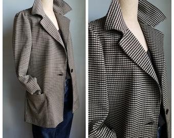 vintage houndstooth jacket