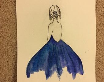 ballerina watercolor