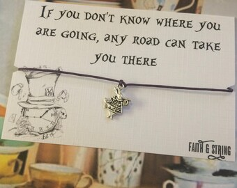Alice in Wonderland Friendship Bracelet Keepsake