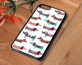 Dachshund Sausage Dog SD101 Beautiful Hard Phone Case Iphone 4 4S 5 5S SE 5C 6 6S 7 X