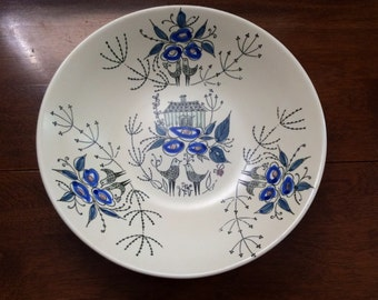 Stavangerflint Dish, Opaque line designed by Inger Waage (design 220), Mid-Century Modern